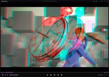 KMPlayer 3D анаглиф