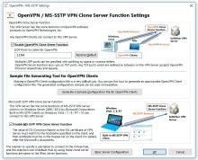 Настройки Open VPN и MS SSTP